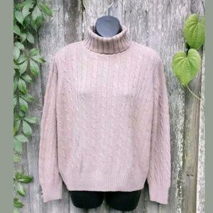 Hunt Club Silk Blend Turtleneck Sweater